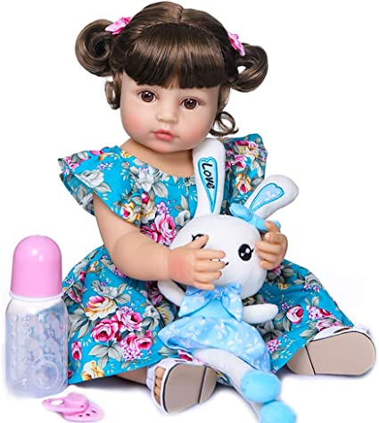 "Reborn Baby Girls Dolls Bathable Newborn Preemie Baby Dolls 22/"" Girls with Toys"
