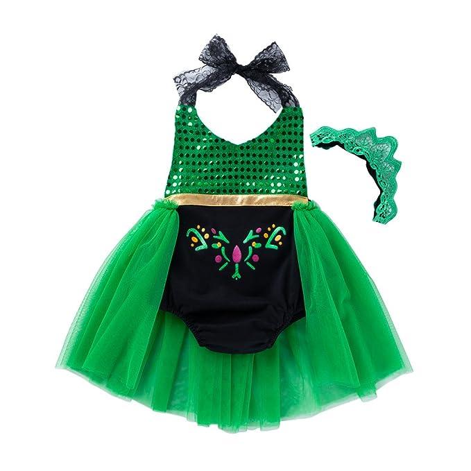 Amazon.com: Belababy Disfraz de sirena/Elsa/Anna princesa ...