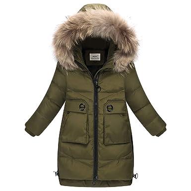 53880dcc7 Amazon.com  LSERVER Big Girls  Winter Parka Down Coat Puffer Jacket ...