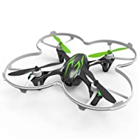 HUBSAN H107C X4 Drone 0.3mp Camara Cuadridóptero (Verde 480P)