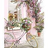 TOOGOO Dpf DIY Bicicleta Flor Pintura De Diamante Cuadrado 5D Artesanía Puntada De Cruz Bordado De Diamantes Pintura De…