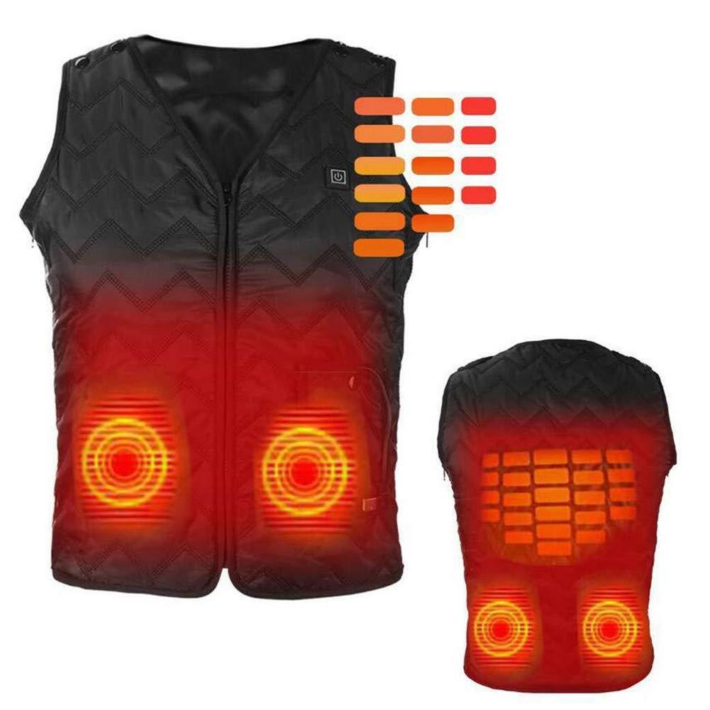 FZ-Kostum Beheizte Weste, waschbare Größe einstellbar USB-Aufladung Beheizte Kleidung warme Weste zum Wandern