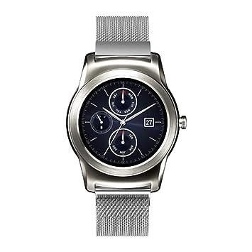 Malloom Relojes Hombres Mujeres Reloj Inteligente Banda de liberación rápida Milanese Banda magnética de Acero Inoxidable Reloj Inteligente para LG Watch ...
