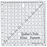 Quilter's 6-1/2-Inch by 6-1/2-Inch Mini Square Ruler