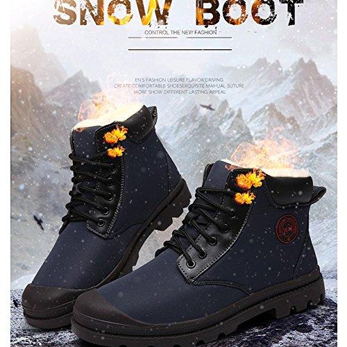 Boots Men Thick Winter Snow Outdoor Slip Waterproof Boots Non Work Autumn Super Comfortable Maizun Blue for 1dP58qtwxw