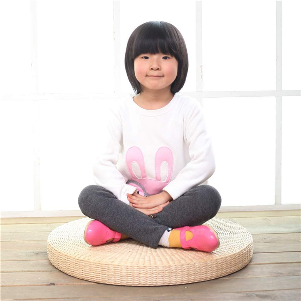 RXY-Wicker chair Japanese-Style Round Window Rattan Hand-Woven Living Room Bedroom Sofa Breathable Cushion (Size : 40cm)