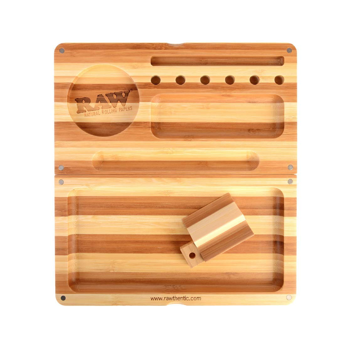 Raw Bamboo Limited Edition Striped BACKFLIP Magnetic Rolling Tray by RAW, ES Distributions