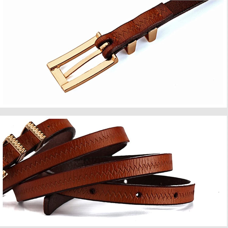 Deercon Lady Thin Skinny Metal Buckle PU Leather Dress Waistband Belt(8 colors)
