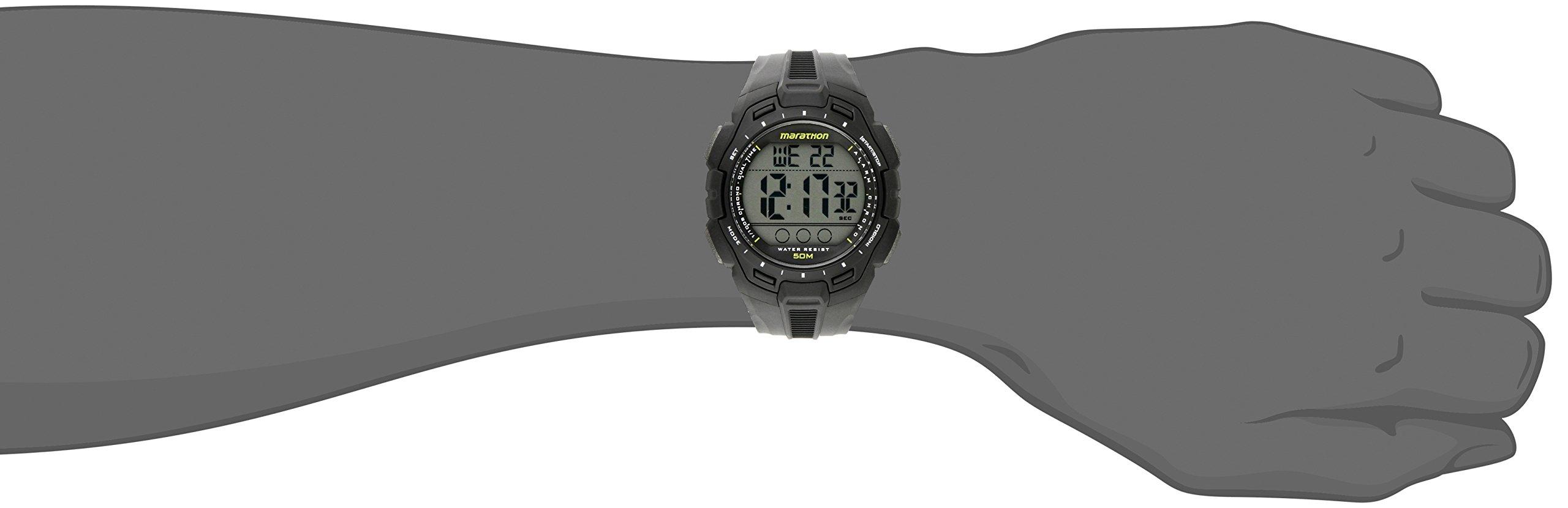 252b49230 Marathon by Timex Men s TW5K94800 Digital Full-Size Black Resin Strap Watch  - TW5K94800   Wrist Watches   Clothing