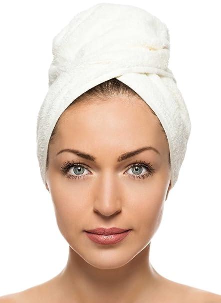 Cómodo toallas toalla para el pelo turbante Wrap, secado rápido toalla de microfibra pelo secado