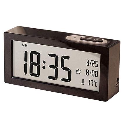 Reloj Despertador de Estudiante Reloj LCD Grande Digital Snooze Reloj electrónico para niños Luz de Noche