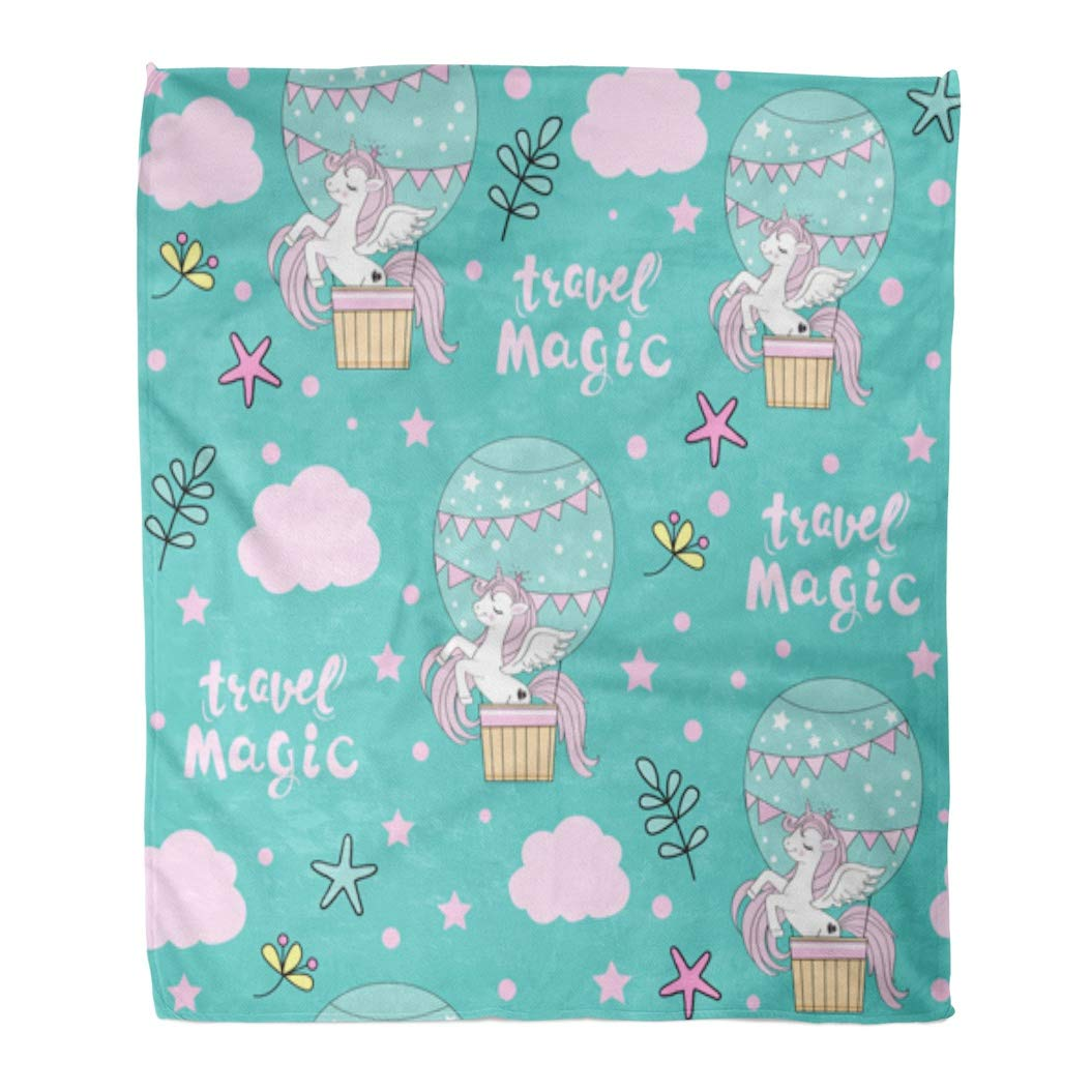 Amazon.com: Emvency Flannel Throw Blanket Pink Animal ...