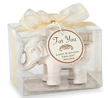 0ab5e717a33 Image Unavailable. Image not available for. Color  YOURNELO Lucky Elephant  Antique Tealight Candle Holder ...
