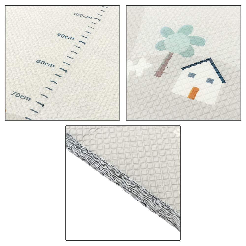 impermeable Alfombra de juego infantil Juego Alfombra XXXL para Jugar al Suelo para Beb/és Ni/ños Peque/ños blanco 200x180 cm