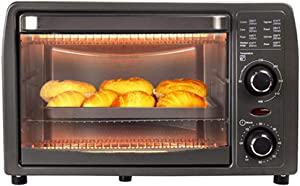 RUSE Toaster Oven, Convection Toaster Oven W/Auto Shut-Off,Mini Baking Oven Adjustable Power, 60 Min Timer,Bake,Accessories Included