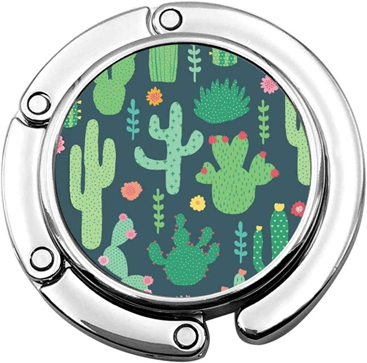 Purse Hook For Table Cactus And Flower Table Hooks For Purses Handbag Hanger For Men Cafe Desk Decor Foldable Holder Hook