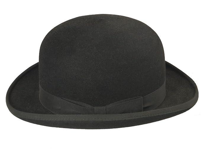 HUTX Women s Bowler Hat Black Black - Black - XXL  Amazon.co.uk ... 089c815e6d2