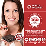 Force Magnet PRACTICAL ceramic magnets , round , small high strength for SUPER FUN craft projects, ENDLESS uses at home and office, GREAT versatility for the family , strong quality and SAFE