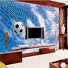 Wapel Custom Photo Wallpaper Mural Wall Sticker Blue Sky White Cloud Soccer Net 3D Football Texture Tv Background Wall 150Cmx105Cm