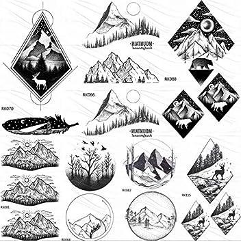 Tatuajes Temporales Niños Hawaianos Black Mountain Forest ...