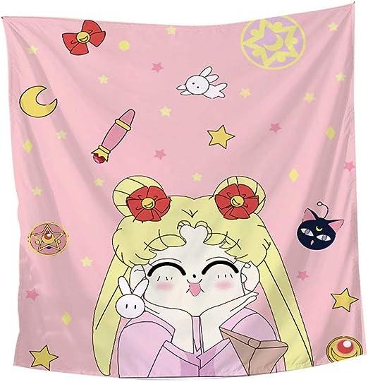 3D Sailor Moon P404 Tapestry Hanging Cloth Hang Wallpaper Mural Photo Zoe