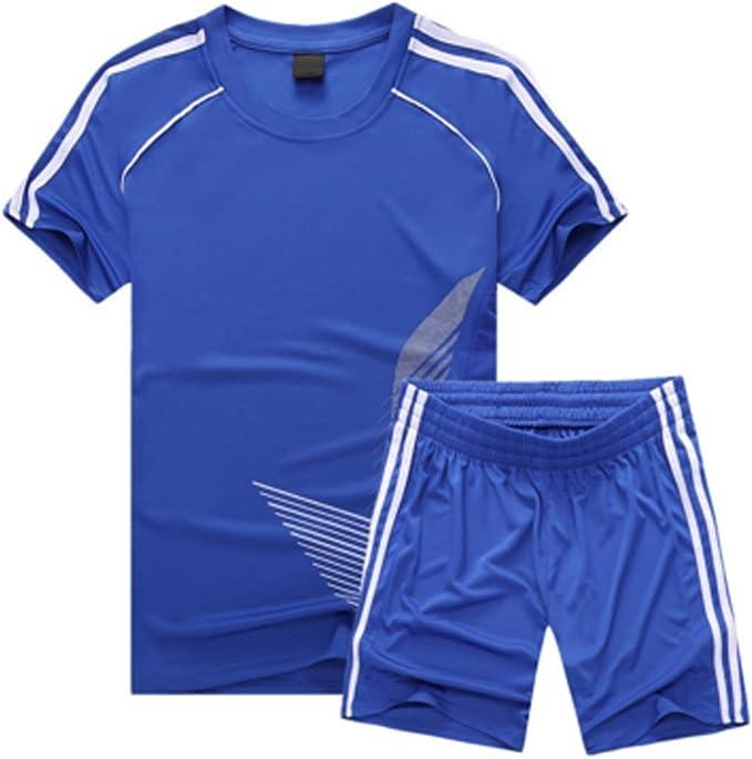 Inlefen Uniforme de Futbol Traje Niño Manga Corta Sudadera y Pantalones Cortos Niños niñas Ropa de Entrenamiento: Amazon.es: Ropa y accesorios