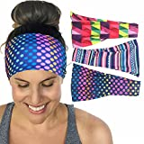 Calbeing Set of 3 Yoga Headband Workout Headband Fitness Headband No Slip Headb