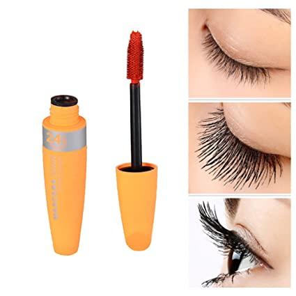 Máscara de pestañas naranja maquillaje rimel con fibras naturales 12ml impermeable
