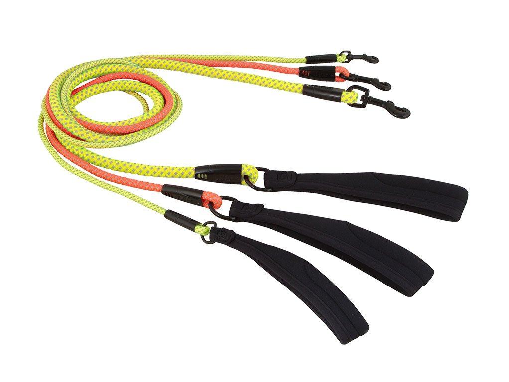 Hurtta Dazzle Rope Leash, Yellow, 4'-1/3''