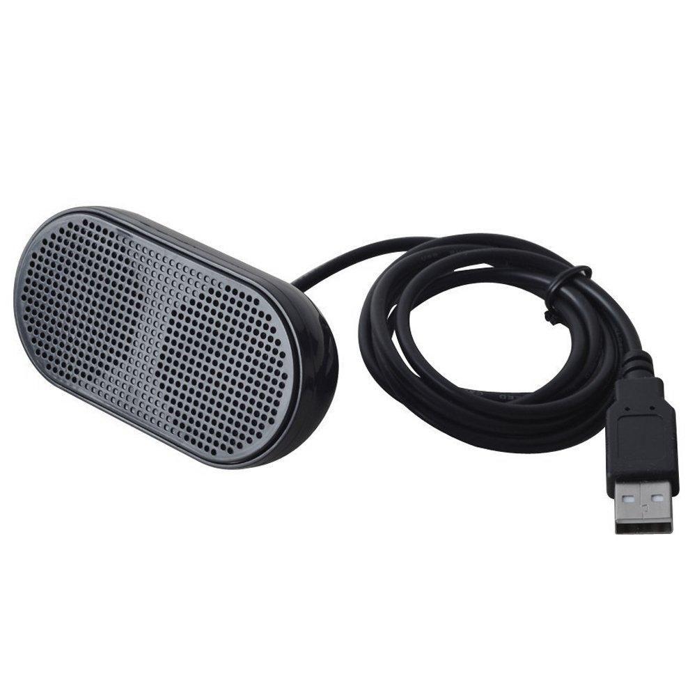 TOOGOO USB Lautsprecher Tragbare Lautsprecher Angetrieben Stereo Multimedia Lautsprecher fuer Notebook Laptop PC (Schwarz) 145335
