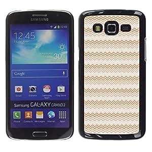 Be Good Phone Accessory // Dura Cáscara cubierta Protectora Caso Carcasa Funda de Protección para Samsung Galaxy Grand 2 SM-G7102 SM-G7105 // Waves Pink Red Art Wallpaper Design Rand