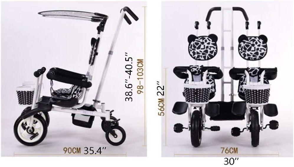 Color : A Sillas de Paseo Ligeras Cochecito Doble Triciclo Bicicleta de beb/é Doble Bicicleta Cinco Modos Gratis con 3 Puntos Protecci/ón de Seguridad Carro de beb/é Carritos y sillas de Paseo
