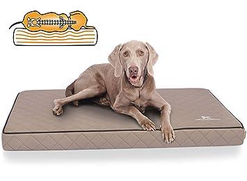 Knuffelwuff Alfombra ortopédico para Perro, cojín ortopédico Juna, sintética surpiqué AU láser, Gris 136 x 84 x 10 cm: Amazon.es: Productos para mascotas