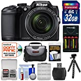 Nikon Coolpix B500 Wi-Fi Digital Camera (Black) with 32GB Card + Batteries & Charger + Case + Tripod Kit (Certified Refurbished)