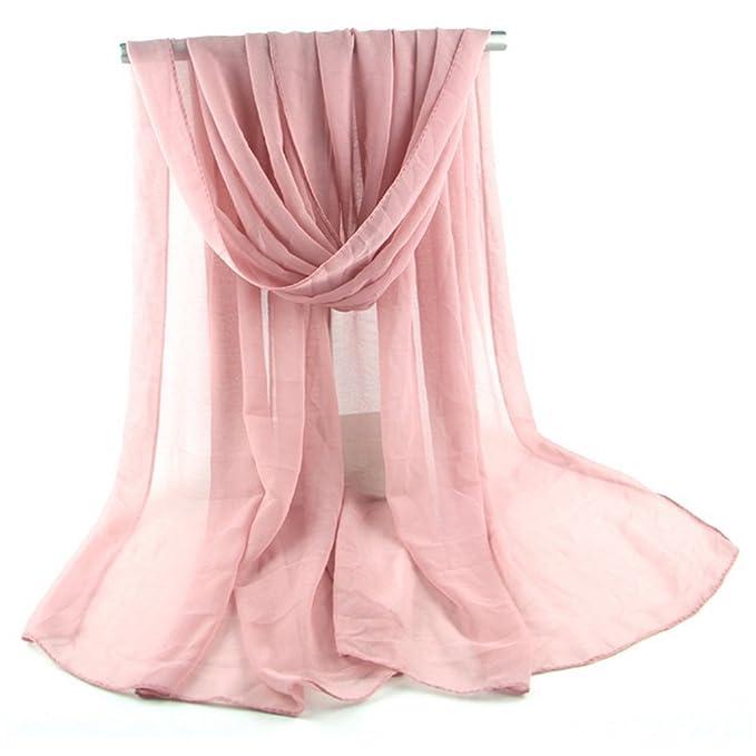 aloiness Sciarpe Chiffon delle Sciarpe Foulard donna Sciarpa Stola Mantella  Ideale per Abiti da Sera 7f1dc277d4c9