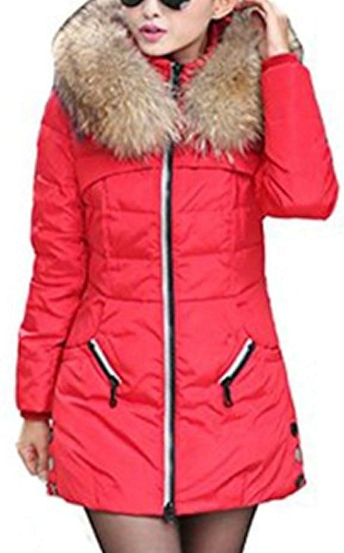 BININBOX® Damen Fashion Parka Jacke Kapuze Reißverschluss Zipper Steppjacke Daunenjacke Daunenmantel Warm Winterjacke