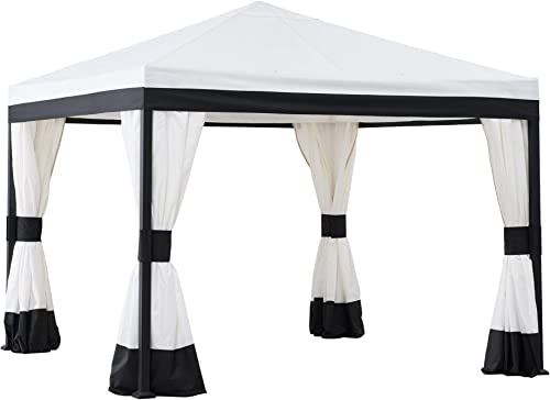 Sunjoy A101011300 Marquis 10×10 ft. Steel Gazebo