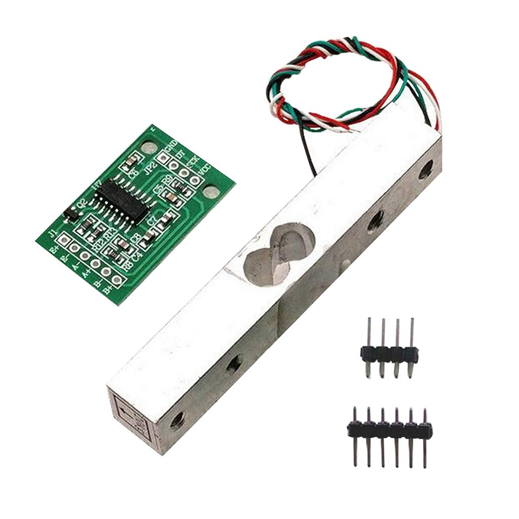 F Fityle 1kg Load Cell and HX711 Combo Pack Kit - Load Cell Amplifier ADC Weight Sensor for Arduino Scale - Everything Needed for Accurate Force Measurement