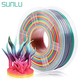SUNLU Rainbow PLA Filament 1.75mm 3D Printer Rainbow Filament ...