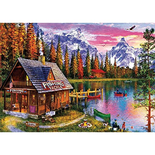 Fishing Hut - Buffalo Games - The Fishing Hut - 300 Large Piece Jigsaw Puzzle