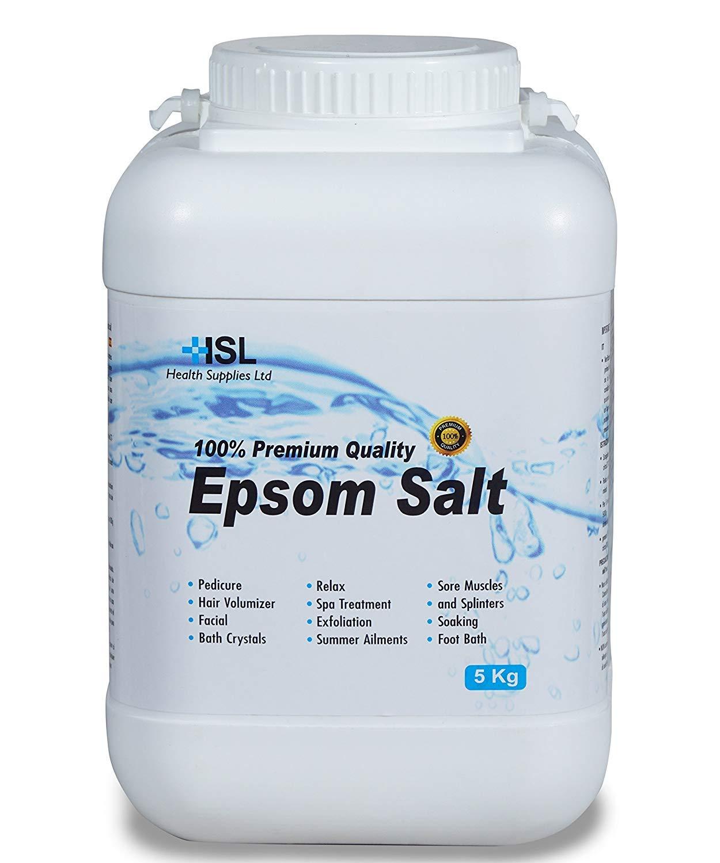 Sales de Epsom - Sales de baño de sulfato de magnesio - 5 kg: Amazon.es: Belleza