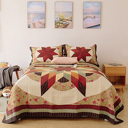 HOLY HOME Bedspread/Quilted Coverlet Set King/Cal King Size 94
