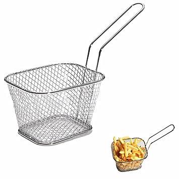 1pcs Chips Mini Fry cestas cesta de la freidora de acero inoxidable colador de alimentos Presentación