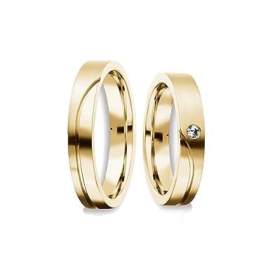 alianzas Trau alianzas Partner anillos Oro Kit Swarovski par de precio asequible Compromiso Anillos Plata par Dorado Boda Anillos Pareja alianzas Circonita ...