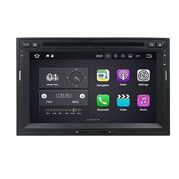 2 DIN 7 Pulgadas Coche Estéreo con GPS Navegación Android 7.1 OS para Peugeot 3008/5008 2010 2011 2012 2013 2014 2015 2016,Dab+ Radio Pantalla Táctil ...