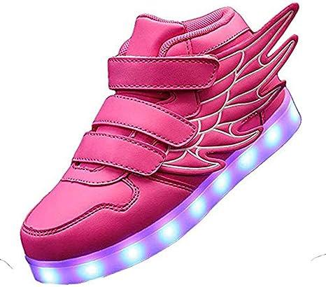 DDPP Kids'LED los Zapatos de Moda Se iluminan Las Zapatillas