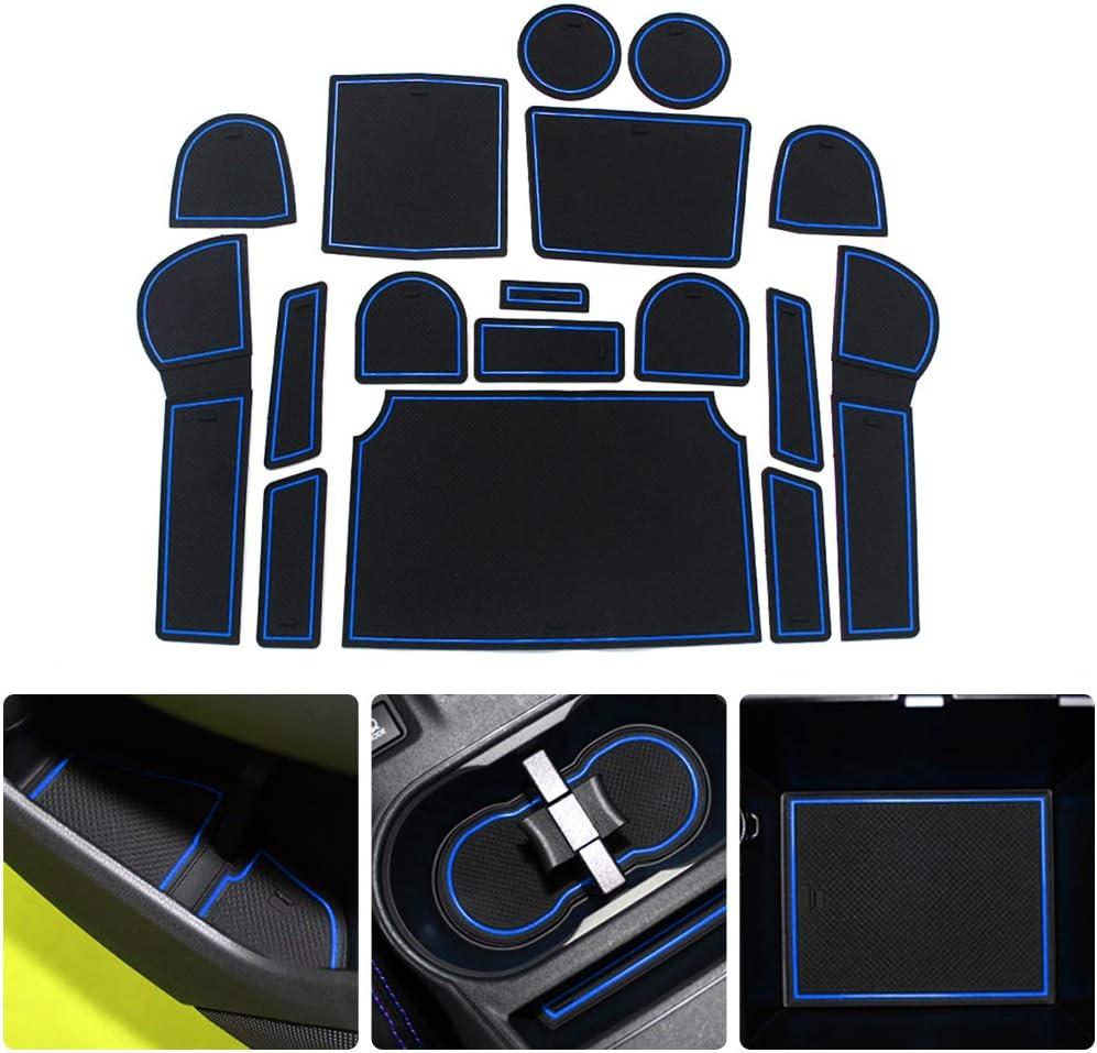 Custom Fit for Subaru XV 2012 2013 2014 Car Door Console Liner Door Groove Slot Mat Interior Cup Cushion Accessories Car-Styling 17pcs Orange