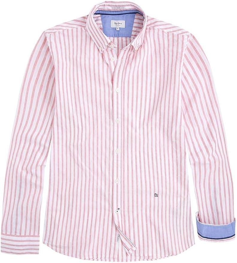 Pepe Jeans Camisa Fredrick Rayas Rosa Hombre M Rosa: Amazon.es: Ropa y accesorios