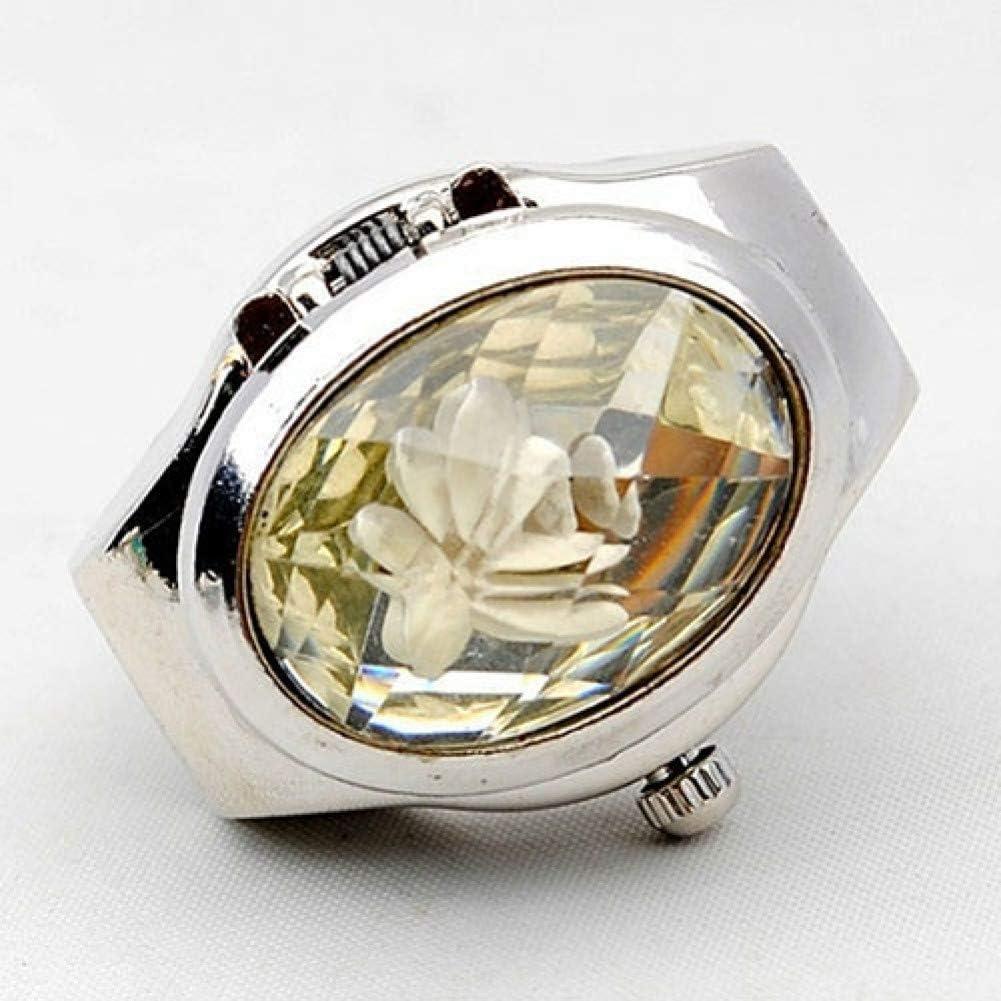 XINYIU Reloj De Diamantes De Imitación De Moda para Mujer, Cubierta Ovalada, Mini Reloj De Cuarzo para Relojes, Joyería Ovalada