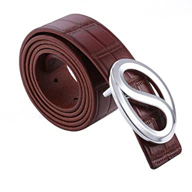 ICEGREY Mens Buckle Leather Belt Emboss Belt Jeans Casual Belt